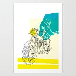 Vintage BSA Super Rocket Motorcycle Art Print Art Print
