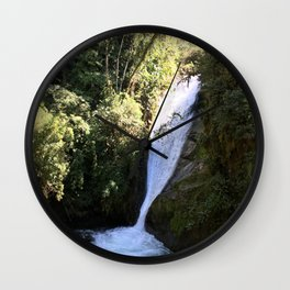 Talamanca Waterfalls Wall Clock