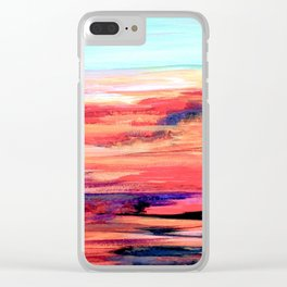 Nevada Abstract Landscape Clear iPhone Case