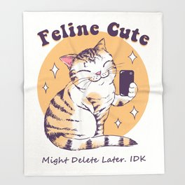 Feline Cute Challenge Throw Blanket