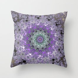 Fractal Wreath Throw Pillow