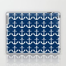 Anchors Navy Blue Laptop & iPad Skin