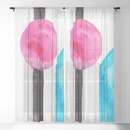 15    Abstract Geometric   191015 Sheer Curtain