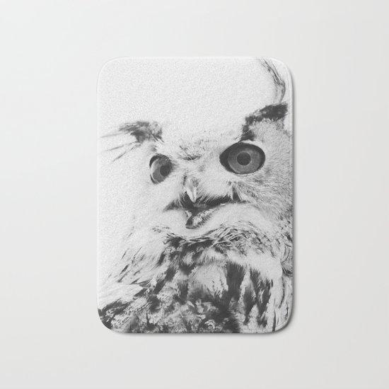 Scandinavian owl Bath Mat