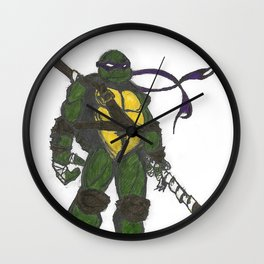 Ninja Turtles Donatello Wall Clock