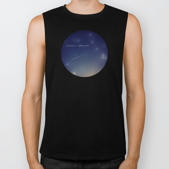 wishing on a falling star Biker Tank