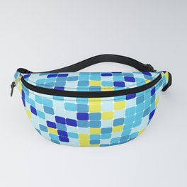 Random colorful squares background Fanny Pack