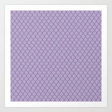 Chain Link Lavender Art Print