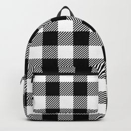 Buffalo Plaid - Black and White Backpack