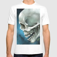 Skull 3 Mens Fitted Tee MEDIUM White