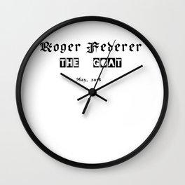 Roger federer,  the goat Wall Clock
