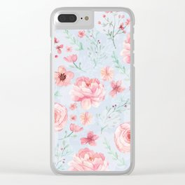 Calm and Sweety Floral Clear iPhone Case
