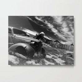 Ghost town car Metal Print