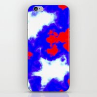 patriotic iPhone & iPod Skins featuring Patriotic Sky by Christy Leigh