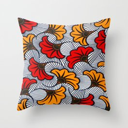 wax nigeria Throw Pillow