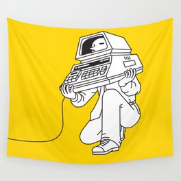 Computer head Wall Tapestry