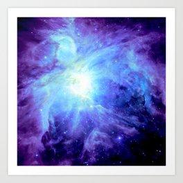 NEBula Purple Periwinkle Blue Art Print
