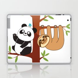 Cute Sloth & Panda Laptop & iPad Skin