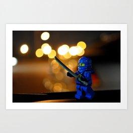 Lego Ninjago Jay Art Print