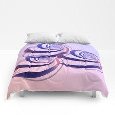 connected spirals Comforters