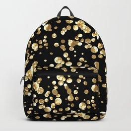 Golden confetti. Brilliant . Backpack
