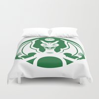 charizard Duvet Covers featuring Charbucks by Jango Snow