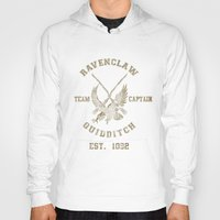 quidditch Hoodies featuring Quidditch House Outfitters by spacemonkeydr