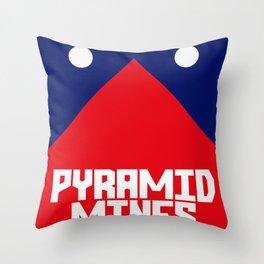 Pyramid Mines Throw Pillow