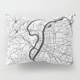 Lyon Map Gray Pillow Sham