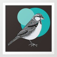 sparrow Art Prints featuring Sparrow by Rachel Russell