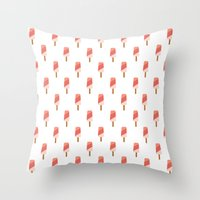 popsicle Throw Pillows featuring Popsicle by Hello Sleepywhale