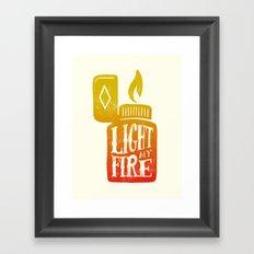 Light my Fire V2 Framed Art Print
