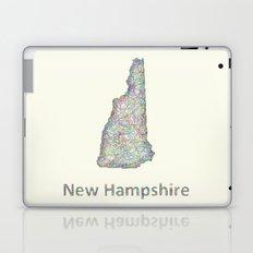 New Hampshire map Laptop & iPad Skin