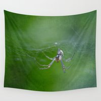 spider Wall Tapestries featuring Spider by pf_photography