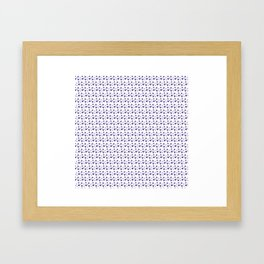 Purple Heart Pattern Framed Art Print