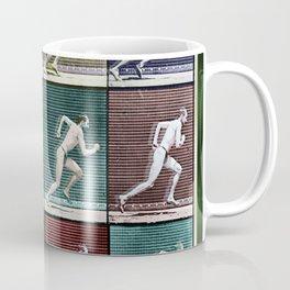 Time Lapse Motion Study Man Running Monochrome Coffee Mug