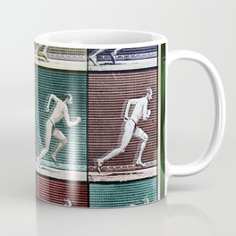 Time Lapse Motion Study Man Running Monochrome Coffee Mug