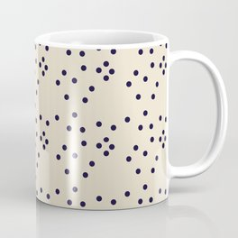 Geometrical black ivory abstract polka dots Coffee Mug