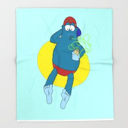 Summer Fun With Dale BigFoot Throw Blanket