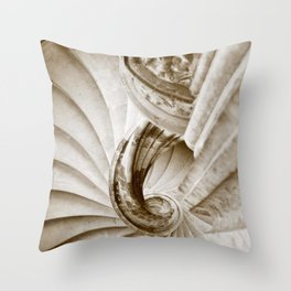 Sand stone spiral staircase 16 Throw Pillow