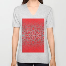 Floral abstract background G101 Unisex V-Neck