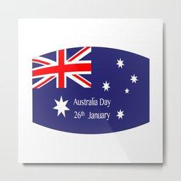 Australia Day Flag Metal Print