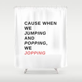 jumping & popping Shower Curtain