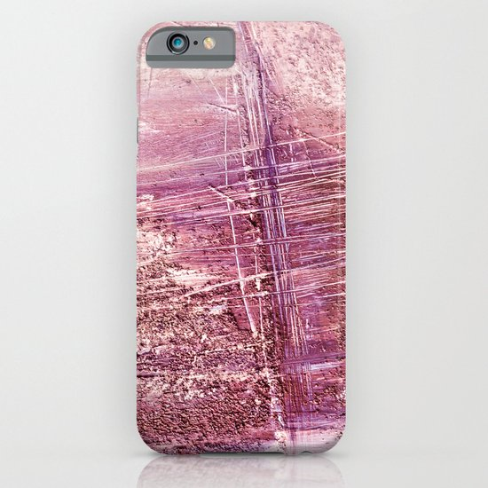 dusty pink abstract iPhone & iPod Case