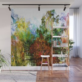 Colorful Birches Wall Mural