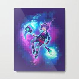 Black Mage / Pixel Mage Metal Print