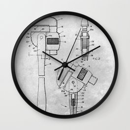 Ratchet pipe wrench Wall Clock