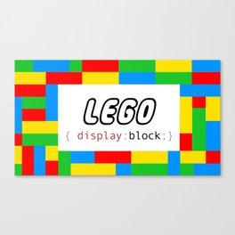 CSS Pun - Lego Canvas Print