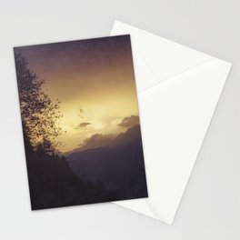Sunrise in the Italian Alps Stationery Cards