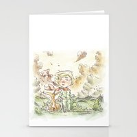 le petit prince Stationery Cards featuring Le petit prince by Lionel Hotz